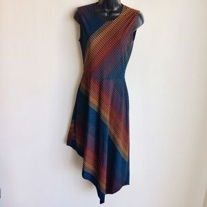 BCBGMaxAzria Dress Diagional Stripes Size S EUC